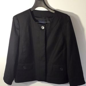 J. Crew black lady cropped blazer 100% wool